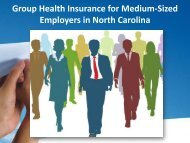Group Health Insurance for Medium Sized Employers in North Carolina