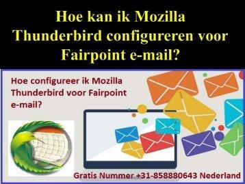 Hoe kan ik Mozilla Thunderbird configureren voor Fairpoint e-mail