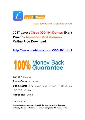 Latest Cisco 300-101 Dumps Exam Questions And Answers Free Update