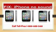 How to Fix No Sound On iPhone? Call 1-800-608-5461 Toll-Free