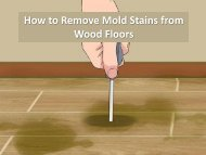 How to Remove Mold Stains from Wood Floors by Carolina Water Damage Restoration