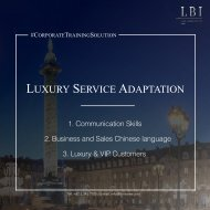 LBI Corporate Training Solution: Luxury Service Adaptation (ENG)