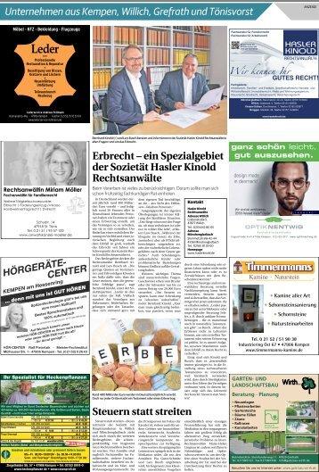 Unternehmen aus Kempen, Willich, Grefrath und Tönisvorst  -16.05.2018-