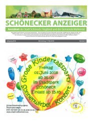 Schönecker Anzeiger Mai 2018