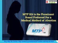 MTP Kit Is the Prominent Brand Preferred For a Medical Method of Abortion