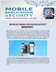 Important Mobile Application Security