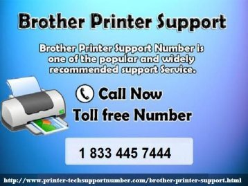 Our Brother Printer Technical Support Helpline Number (+1-833-445-7444)