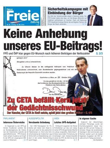 Keine Anhebung unseres EU-Beitrags!