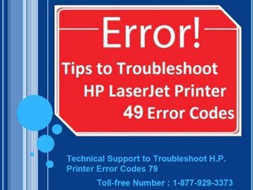 Online Technical Support to Troubleshoot H.P. Printer Error Codes 79