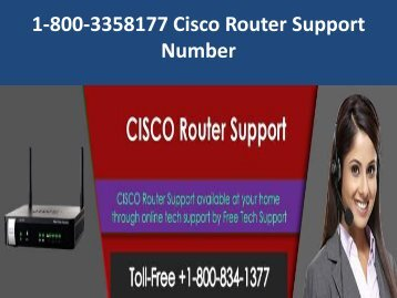1-800-3358177 Cisco Router Support Number