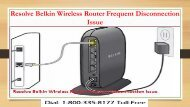 18003358177 Resolve Belkin Wireless Router Frequent Disconnection Issue