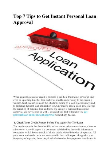 Top 7 Tips to Get Instant Personal Loan Approval