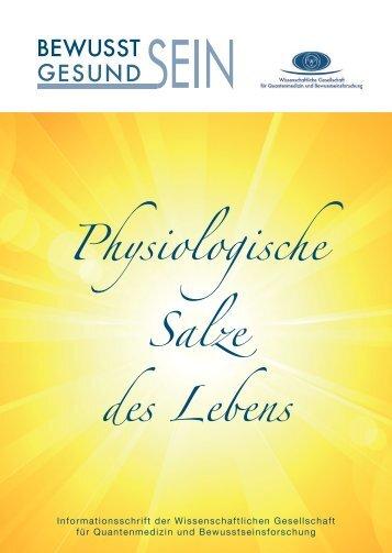 Physiologische Salze des Lebens