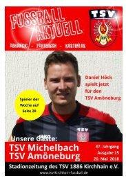 20.05.0218 Stadionzeitung TSV Michelbach / TSV Amöneburg