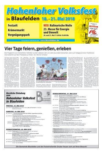 2018/20 - Hohenloher Volksfest Blaufelden 2018