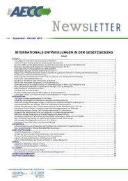 internationale entwicklungen in der gesetzgebung - Association for ...