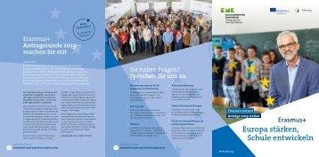 Erasmus+ – Europa stärken, Schule entwickeln