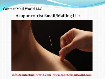 Acupuncturist Email Mailing List