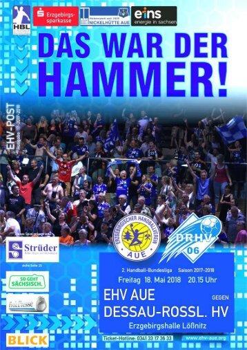 EHV-POST: EHV Aue gegen Dessau Rosslauer HV