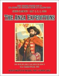6023 Spring Doins ANZA EXPEDITIONS History