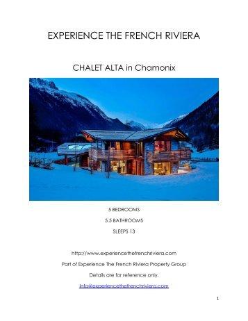 Chalet Alta - Chamonix
