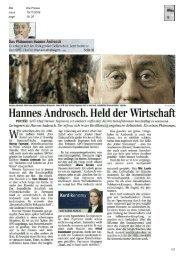 Hannes Androsch, Held der Wirtschaft