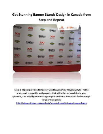 Get Stunning Banner Stands Design in Canada from Step and Repeat