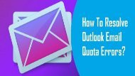 18002089523 Resolve Outlook Email Quota Error