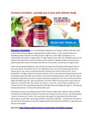 Blocks the production of more fats in your body with Turmeric Forskolin