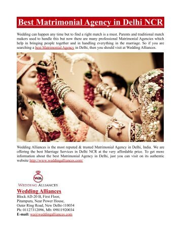 Best Matrimonial Agency in Delhi NCR