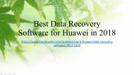 Top 5 Huawei Data Recovery Software in 2018