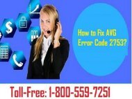 Call 1-800-559-7251 to Fix AVG Error Code 2753