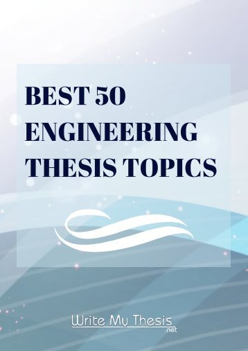 Engineering Thesis Topics