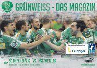 DHfK-Spieltagsheft SC DHfK vs. HSG Wetzlar