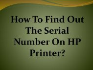 Easy Steps To Find Out The Serial Number On HP Printer
