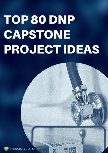 Ideas For DNP Capstone Project