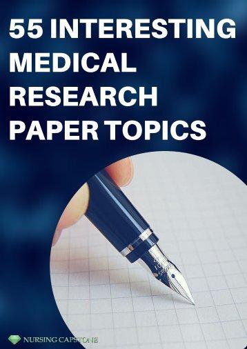 Good Medical Research Paper Topics