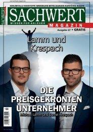 Sachwert Magazin Ausgabe 67, Mai 2018