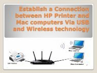 Establish a Connection between HP Printer and Mac computers Via USB and Wireless technology