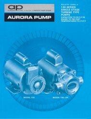 HVAC Pumps 130 Series Single Stage Turbine Type Pumps