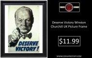 Deserve Victory Winston Churchill Uk Picture Frame - Poster - Print