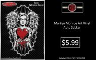 Marilyn Monroe Art Vinyl Auto Sticker - Brand New