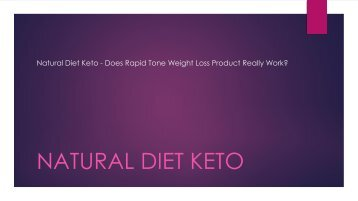 Natural Diet Keto