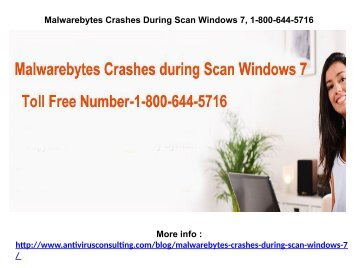Malwarebytes Database Missing or Corrupt 1-800-644-5716