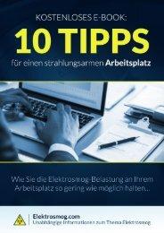E-Book für einen Strahlungsarmen Arbeitsplatz