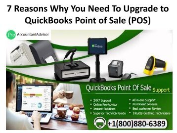 7 Reasons Why You Need To Upgrade to QuickBooks Point of Sale (POS)
