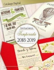 CATALOGO 2018-2019 INVITACIONES