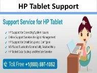 HP Tablet Support
