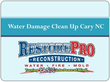 Water Damage Clean Up Cary NC