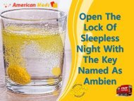 Have Proper Sleep Without Any Issues With Ambien
